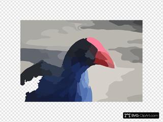 Moorehen Bird SVG Clipart
