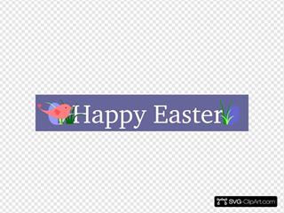 Happy Easter Purple