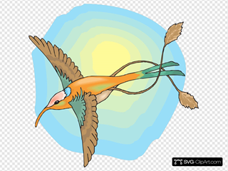 Hummingbird With The Sun