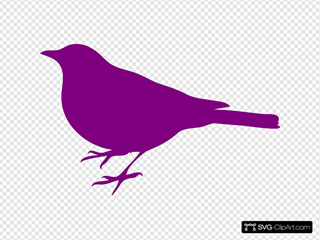 Purple Bird Left