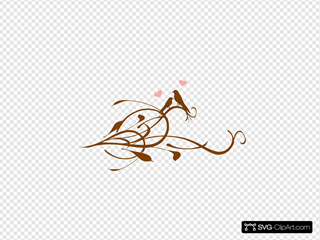 Love Birds On A Brown Branchlarge