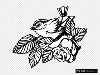 Bird With Rose
