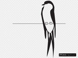 Bird On Wire SVG icons