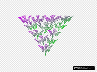 Gradient Bird Triangle