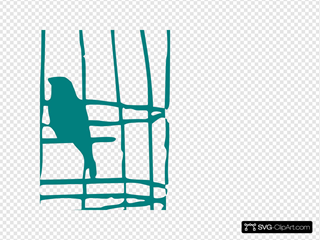 Love Birds In Cage SVG Clipart