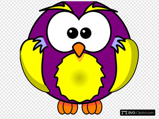 Gold And Purple Owl