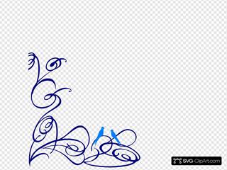 Decorative Swirl With Bird