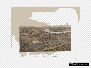 Bird S Eye View. Centennial International Exhibition. 1876