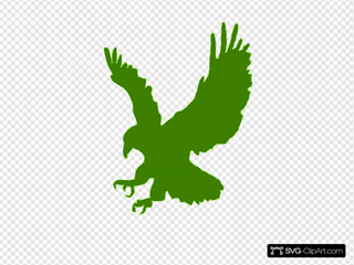 Green Hawk Clipart