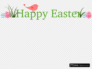 Happy Easter With Bird