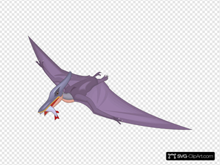 Pteranodon With A Fish In Mouth