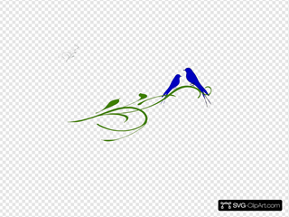 Kj Blue Love Birds