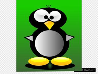 Crazy Cartoon Penguin