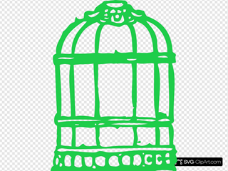 Green Birdcage