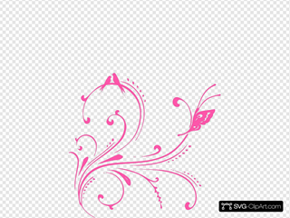 Pink Swirl Birds (butterfly Princess)