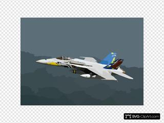 Vfa-82 In Flight Over Arabian Gulf.