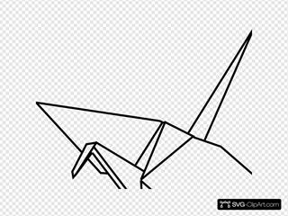 Paper Crane Outline
