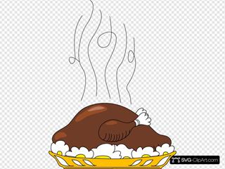 Turkey On Plate SVG Clipart