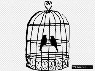Birdcage Lovebirds Grey