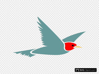 Stylized Flying Bird Art
