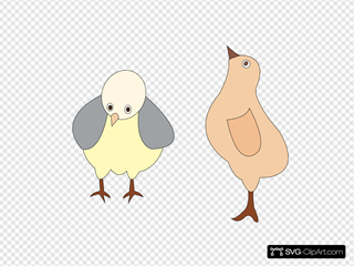 Chickens 001 Figure Color SVG Clipart