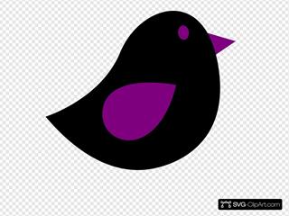 Eggplant & Black Birdie