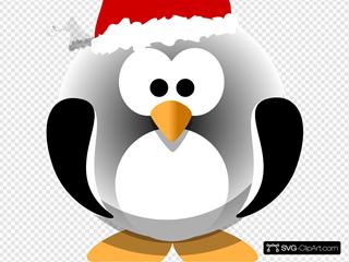 Penguin Wearing Santa Hat