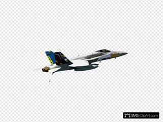 Vfa-82 Hornet In Flight Over Arabian Gulf.