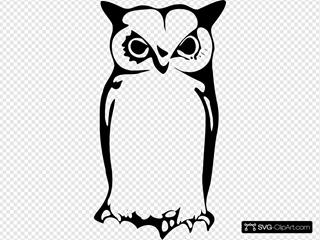 Halloween Silhouette Owl
