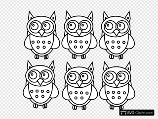 Coloring Book Owls