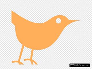 Light Orange Twitter Bird Icon