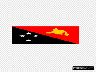 Flag Of Papua New Guinea SVG Clipart