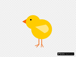 Yellow Baby Chick SVG Clipart