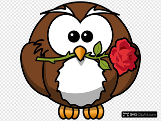 Owl With Rose