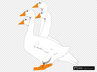 Group Of Digital Geese