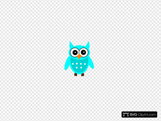 Turquoise Chic Owl