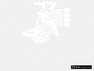 Bird Flag Mexico Outline