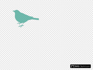 Soft Blue Bird Silhouette