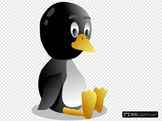 Sitting Baby Pinguin Tux