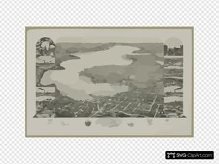 Bird S Eye View Of Lake Geneva, Walworth Co., Wis. 1882