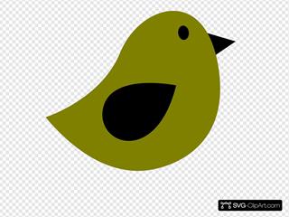 Black & Olive Birdie