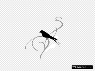 Black Vine With Bird