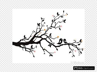 Birds On Branch - Pretty Peach