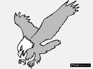 Grayscale Hunting Eagle