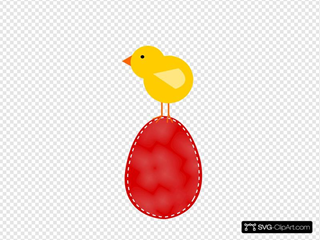 Easter Egg With Bird On Top