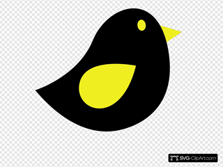 Yellow & Black Birdie
