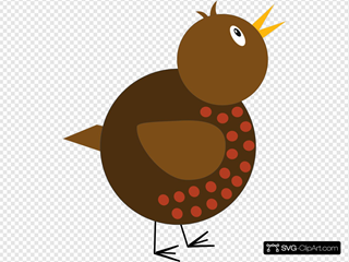 Whimsical Robin SVG Clipart