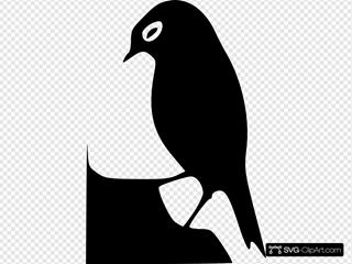 Standing Bird Silhouette