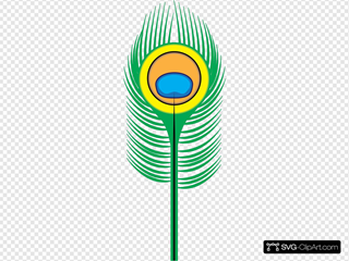 Peacock Feather SVG Clipart
