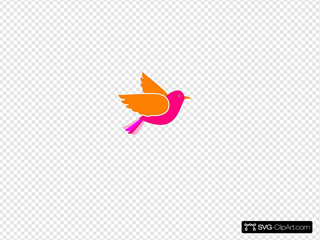 Pink Bird Left